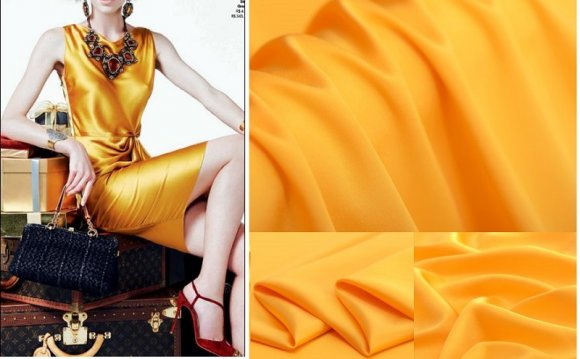 Imitated silk fabric for