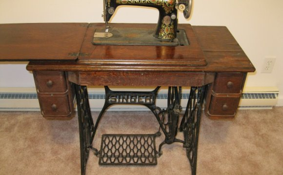 Vintage treadle sewing