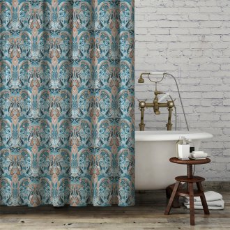 Copper Paisley on Shower Curtain