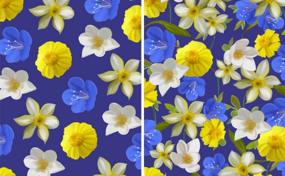Floral fabric Design patterns