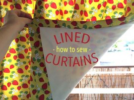how to sew lined curtains