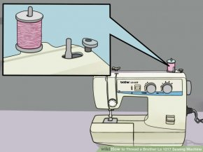Image titled Thread a Brother Ls 1217 Sewing Machine Step 1