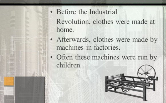 Industrial Revolution clothes